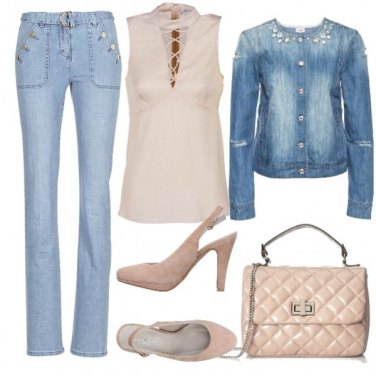 Outfit Tacco nude