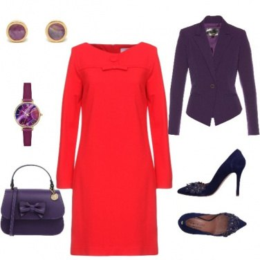 Outfit Rosso+Violetta