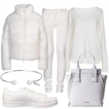 Outfit Quotidianità in bianco