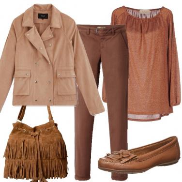 Outfit Il rosa e il marrone