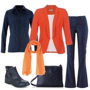 Outfit Il blazer arancio
