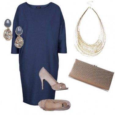Outfit Curvy bon blue