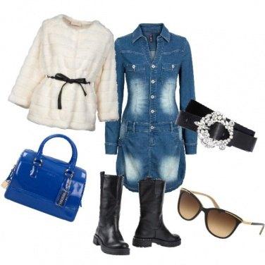 Outfit Jeans e pellicciotto