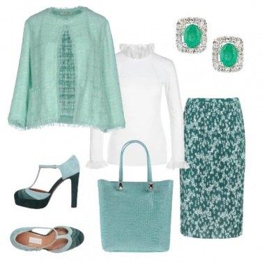 Outfit TSK Plissè e tweed