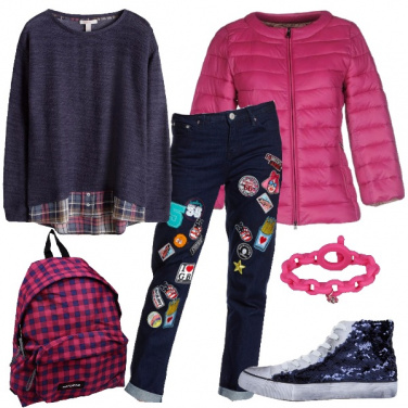 Outfit Jeans con le toppe