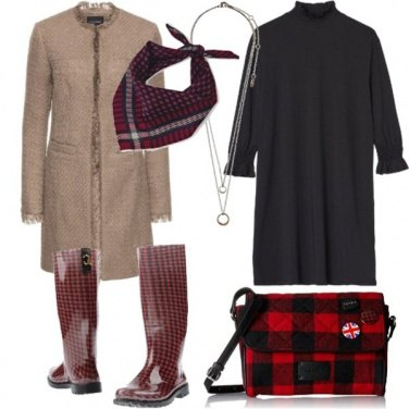 Outfit Prime piogge in stile UK