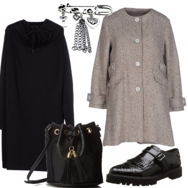 Outfit Il cappotto in tweed
