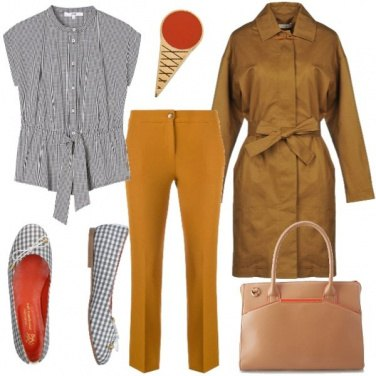 Outfit Quadretti Vichy e un cono gelato