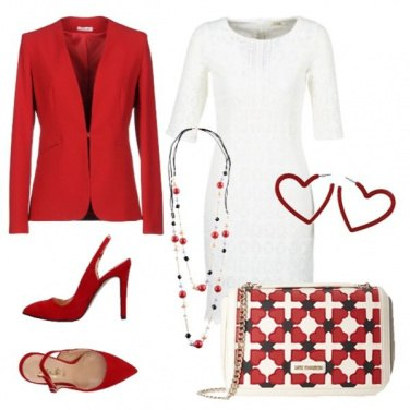 Outfit Scarpette rosse