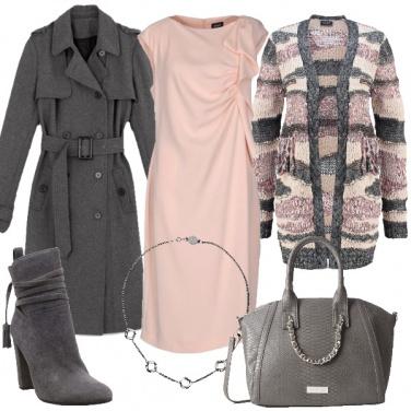 Outfit Il rosa delicato in versione inverno