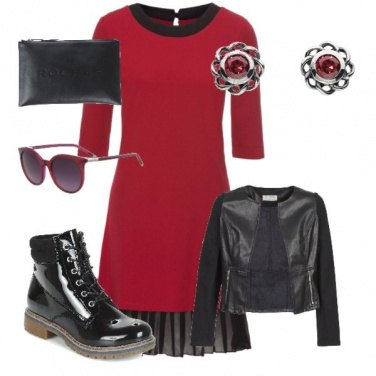 Outfit Red and noir