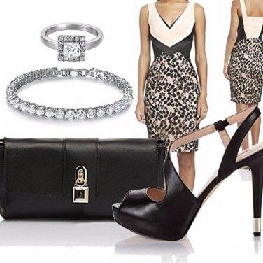 Outfit Classico nero e panna