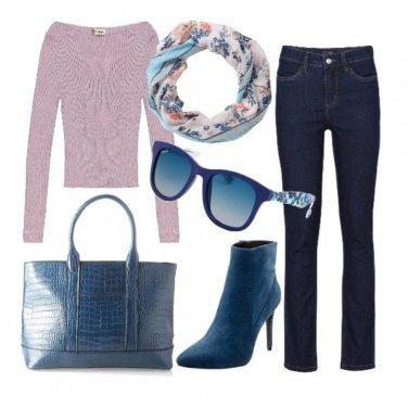 Outfit Il tronchetto cobalto