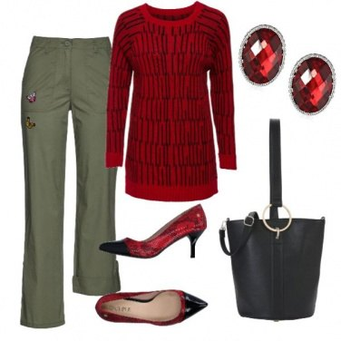 Outfit Ruby red