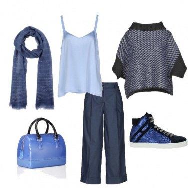 Outfit Sinfonia di blu