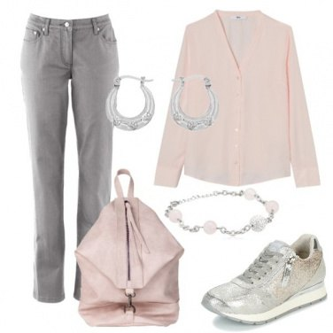 Outfit Pink and silver