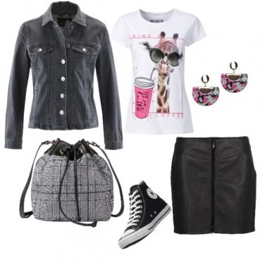 Outfit Trendy ecopelle
