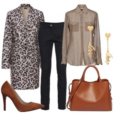 Outfit Il cappotto animalier