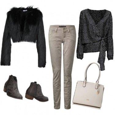 Outfit Pois e borchie