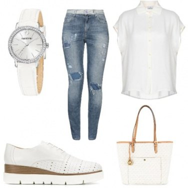 Outfit White University