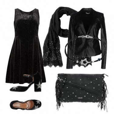 Outfit Serata in stelle e strass