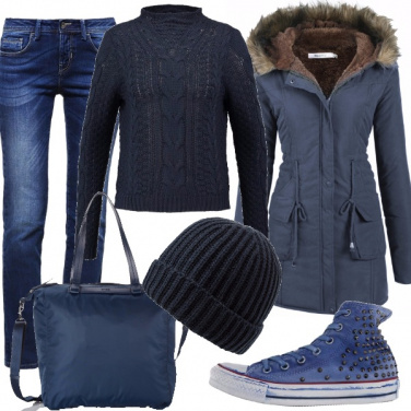 Outfit Blue per tutto il giorno