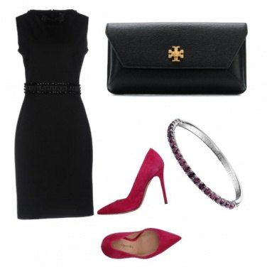 Outfit Black and Fucsia