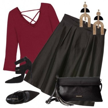 Outfit Il body bordeaux