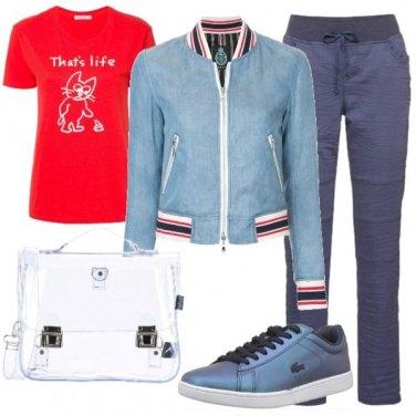 Outfit Giubbino universitario