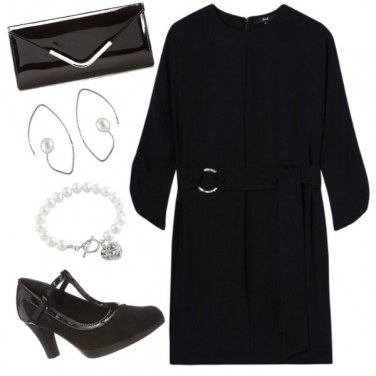 Outfit Curvy chic Black and pearl