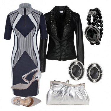 Outfit Black & silver night