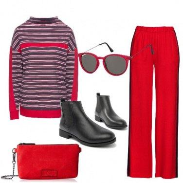 Outfit La felpa a righe