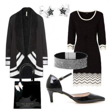 Outfit Bianco e nero verniciato