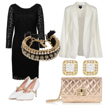 Outfit Pizzo perle e strass