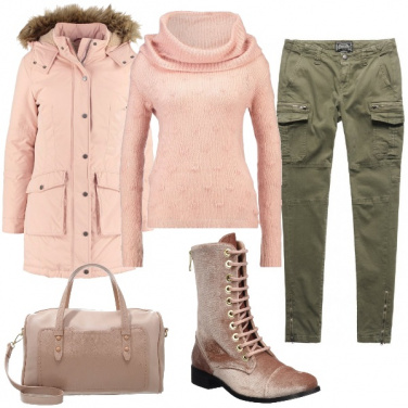 Outfit Velluto rosa