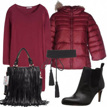 Outfit Piumino e vestito