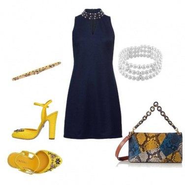 Outfit Giallo e perle