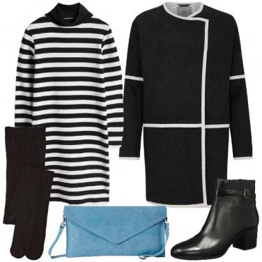 Outfit Contrasti di linee e colori