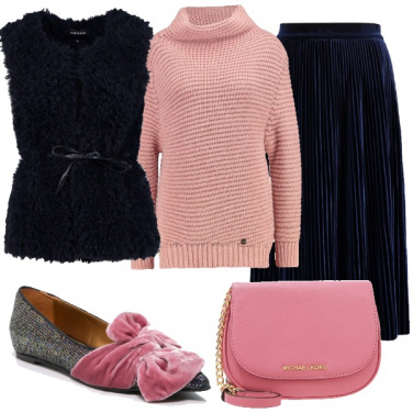 Outfit Rosa e blu in taglie comode