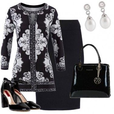 Outfit In banco e nero per i primi freddi!!!