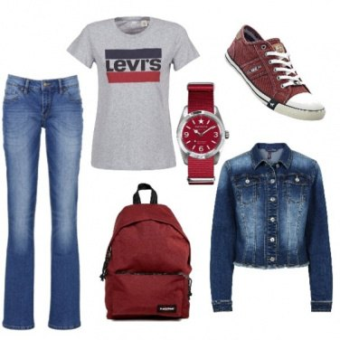Outfit Università in jeans