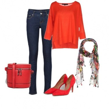 Outfit Rosso trendy mezza stagione