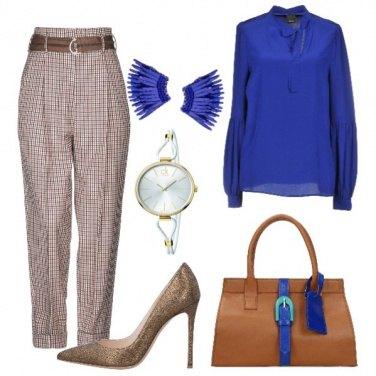 Outfit Dettagli ricercati marrone e blu china