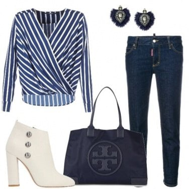 Outfit Righe e jeans