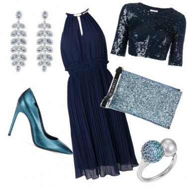 Outfit Tante sfumature di blu