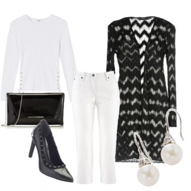 Outfit Black and withe