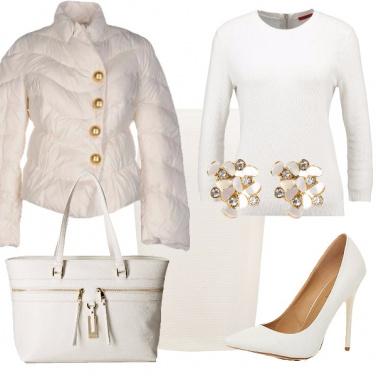 Outfit Décolleté bianche