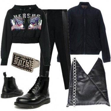 Outfit La felpa crop