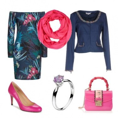 Outfit Autunno floreale accessori pink