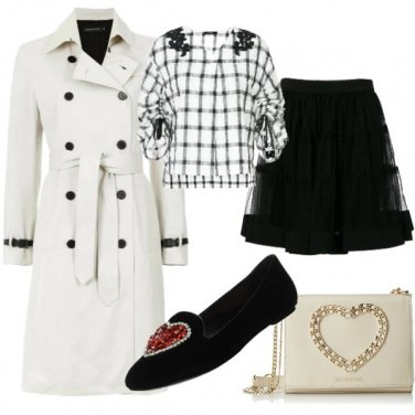 Outfit Trench e gonna in tulle